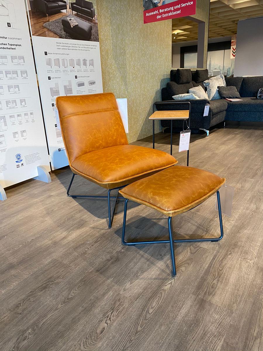 Lounge Sessel + Hocker Washington